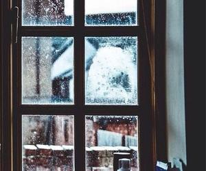 winter, window, and snow image