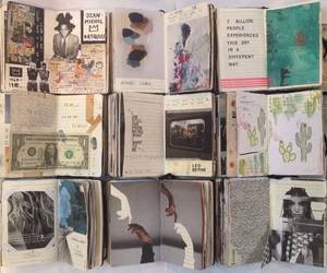 journal, art, and books image
