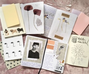art, journal, and notebook image