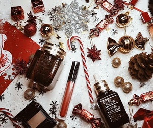 christmas, beauty, and red image
