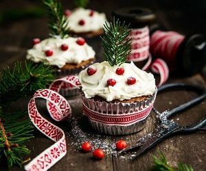 christmas, cupcake, and seasons image