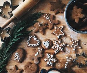 christmas, Cookies, and food image