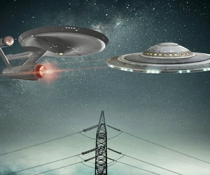 alien, flying saucer, and fun image