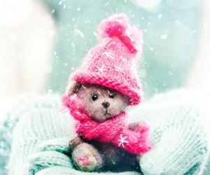 art, bear, and winter image