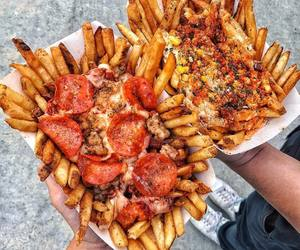 food, fries, and yummy image