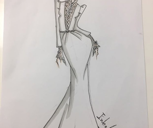 art, evening gown, and dress image