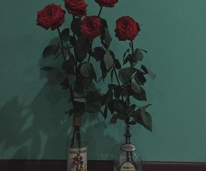 bottle and rose image