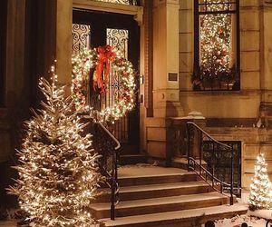 christmas, lights, and decorations image
