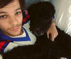 louis tomlinson, one direction, and dog image