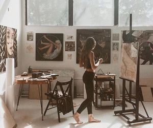 art, girl, and artist image
