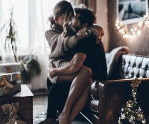 couple, christmas, and home image