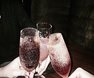 champagne, winter, and hanukkah image