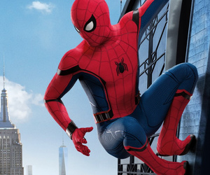 background, homecoming, and spider-man image
