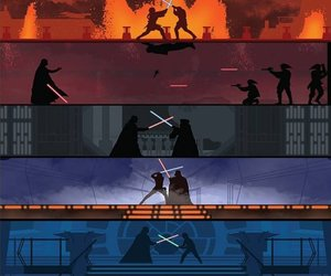 star wars, battle, and darth vader image