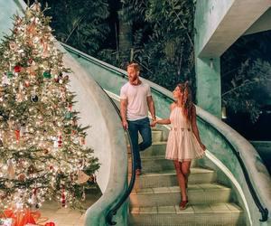 christmas, christmas tree, and couple image