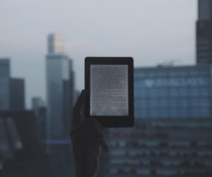 books, city, and kindle image