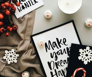 calligraphy, christmas, and winter image