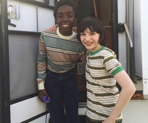 stranger things, finn wolfhard, and caleb mclaughlin image