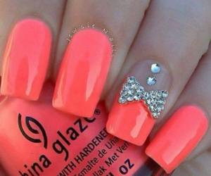 bow, diamonds, and nails image