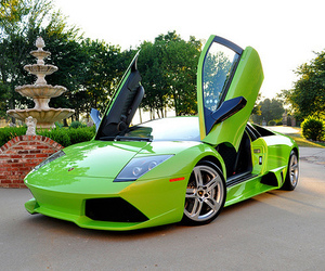 car, green, and Lamborghini image