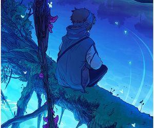 anime boy and art image