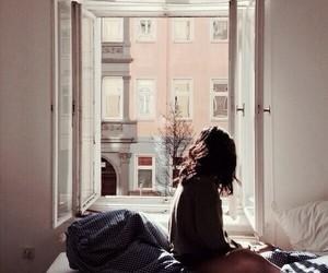 girl, window, and morning image