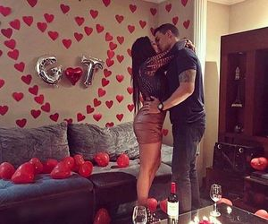 balloons, red, and room image