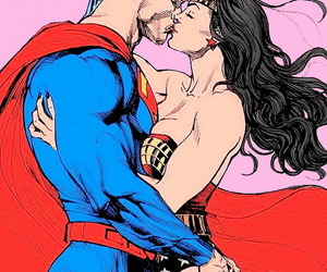 clark kent, diana of themyscira, and superman image