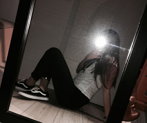 mirror, vans, and snapchat image