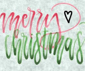 calligraphy, christmas, and green image