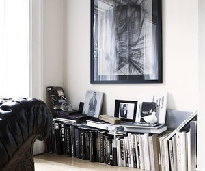interior, book, and home image