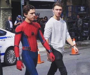 tom holland, spiderman, and Marvel image