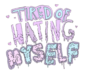 hate, tired, and myself image