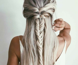blond, cheveux, and tresse image