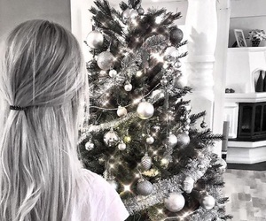 christmas, decoration, and hairstyle image