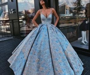 dress, fashion, and blue image