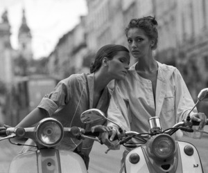 girl, model, and Vespa image