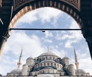 blue, clouds, and mosque image