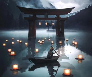 japan, nature, and light image