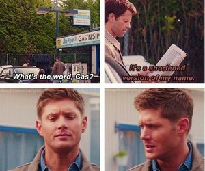 dean winchester, castiel, and supernatural image