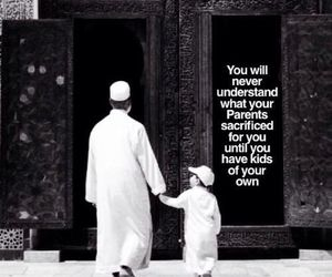 quotes, muslim, and parents image