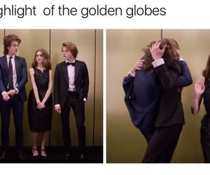 golden globes, stranger things, and charlie heaton image