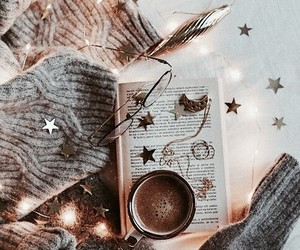book, light, and winter image
