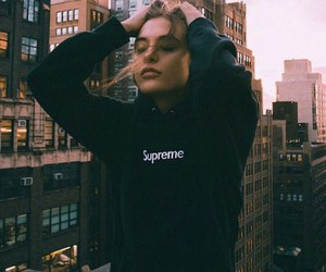 girl, supreme, and city image