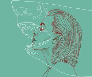 shark, art, and draw image