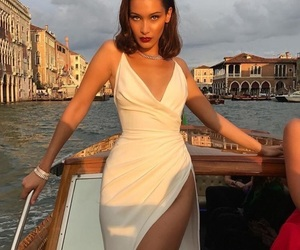 bella hadid, model, and dress image