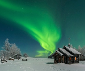 aurora borealis, christmas, and gift image