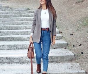 blazer with ankle boots image