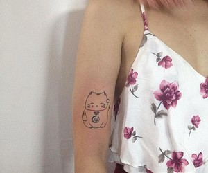 cat, ink, and tattoo image