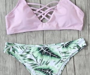 summer, bathing suit, and beach image